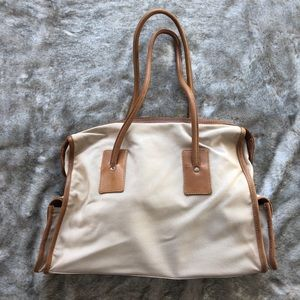 J.Crew Cotton + Leather Tote
